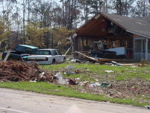 Katrina 10 – Another washed out house in Diamondhead.